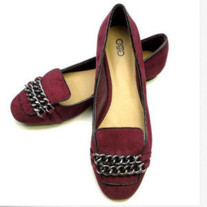 Cato Loafer Red Wine Chains Womens Size 9 Wide